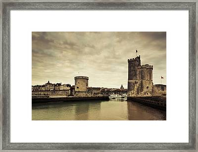 Tour De La Chaine And Tour St-nicholas Framed Print by Panoramic Images