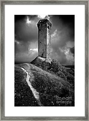 Tour De La Clauze Tower. Haute-loire Department. France Framed Print