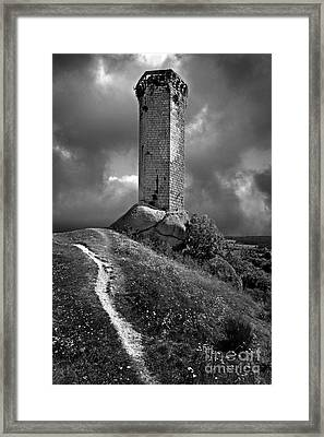 Tour De La Clauze Tower. Saugues. Haute-loire Department. Auvergne. France Framed Print by Bernard Jaubert