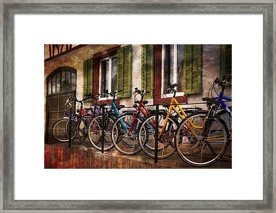 Tour De Suisse Framed Print by Debra and Dave Vanderlaan