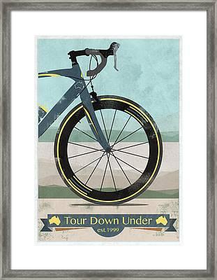 Tour Down Under Bike Race Framed Print