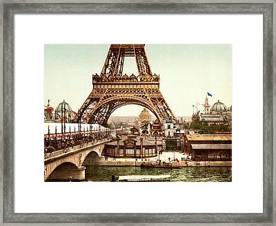 Tour Eiffel And Exposition Universelle Paris Framed Print