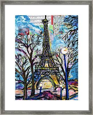 Tour Eiffel Vue De L'aquarium Framed Print by Everett Spruill