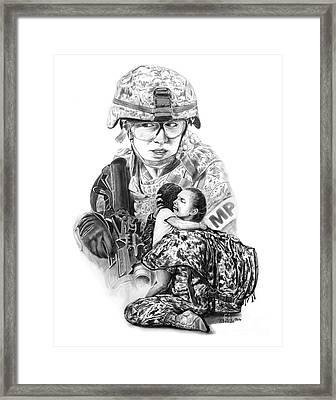 Tour Of Duty - Women In Combat Le Framed Print by Peter Piatt