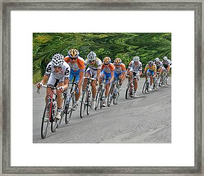Framed Print featuring the photograph Tour Of Missouri Downhill 2009 by Christopher McKenzie