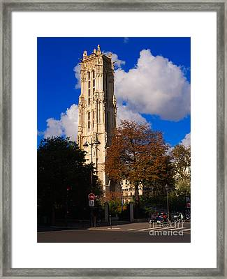 Tour St Jacques Paris Framed Print by Louise Heusinkveld
