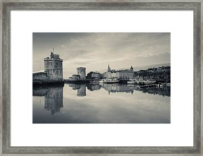 Tour St-nicholas And Tour De La Chaine Framed Print by Panoramic Images
