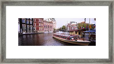 Tourboat In A Channel, Amsterdam Framed Print