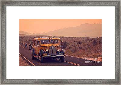 Touring Yellowstone Framed Print by Edward Fielding
