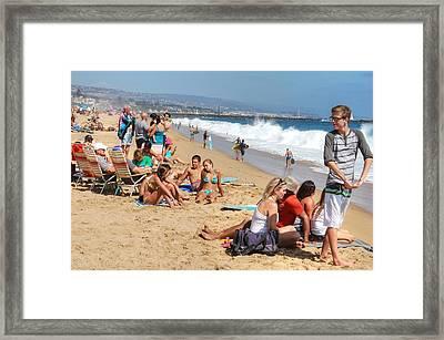 Tourist At Beach Framed Print