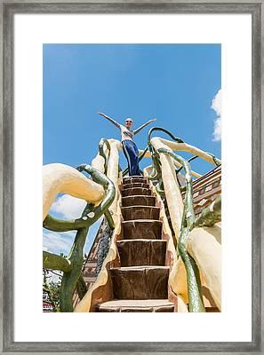 Tourist At Crazy House In Dalat Framed Print by Nikita Buida