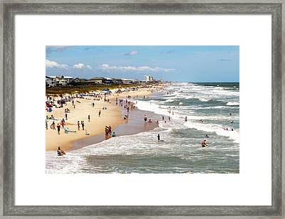Tourist At Kure Beach Framed Print