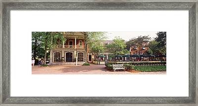 Tourist In Town Square, Williamsburg Framed Print by Panoramic Images