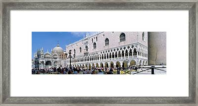 Tourist Outside A Cathedral, St. Marks Framed Print
