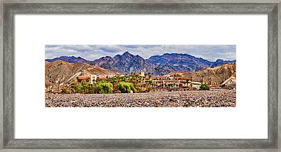 Tourist Resort, Furnace Creek Inn Framed Print by Panoramic Images