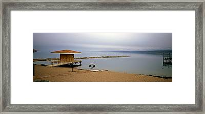 Tourist Resort On The Beach, Lake Framed Print by Panoramic Images