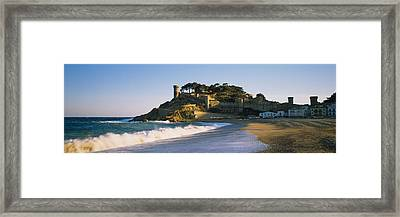 Tourist Resort On The Beach, Tossa De Framed Print by Panoramic Images
