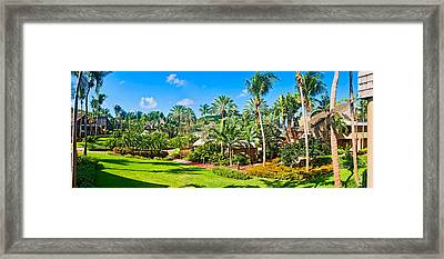 Tourist Resort, St. John, Us Virgin Framed Print by Panoramic Images