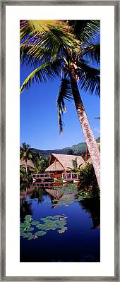 Tourist Resorts, Tahiti, French Framed Print by Panoramic Images
