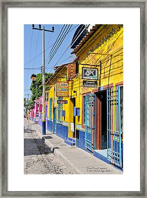 Tourist Shops - Mexico Framed Print by David Perry Lawrence