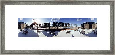 Tourist Sitting On A Roof Framed Print by Panoramic Images