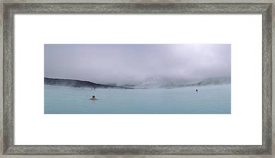 Tourist Swimming In A Thermal Pool Framed Print by Panoramic Images