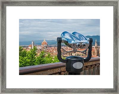 Touristic Florence Framed Print