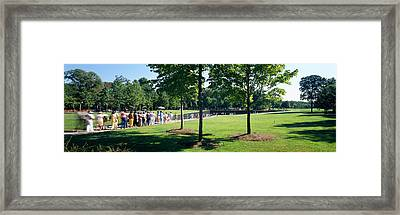 Tourists At A Memorial, Vietnam Framed Print