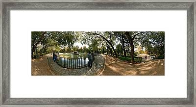 Tourists At A Public Park, Buen Retiro Framed Print