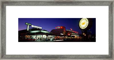 Tourists At A Restaurant, Fishermans Framed Print by Panoramic Images