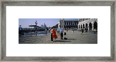 Tourists At A Town Square, St. Marks Framed Print by Panoramic Images