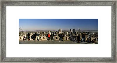 Tourists At An Observation Point Framed Print
