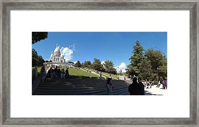 Tourists At Basilica, Basilique Du Framed Print