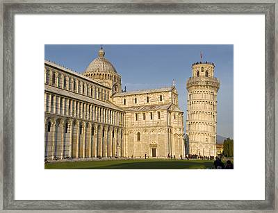 Tourists At Cathedral, Pisa Cathedral Framed Print by Panoramic Images