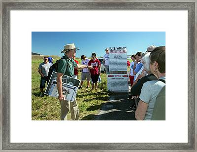 Tourists At Historic Missile Base Framed Print by Jim West