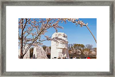 Tourists At Martin Luther King Jr Framed Print by Panoramic Images
