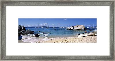 Tourists Enjoying On The Beach, The Framed Print by Panoramic Images