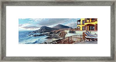 Tourists Enjoying Pool At Hacienda Framed Print by Panoramic Images