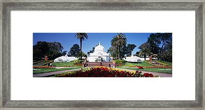 Tourists In A Formal Garden Framed Print by Panoramic Images