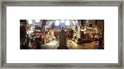 Tourists In A Market, Grand Bazaar Framed Print