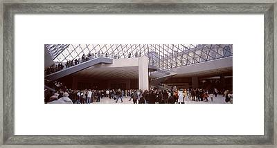 Tourists In A Museum, Louvre Museum Framed Print by Panoramic Images