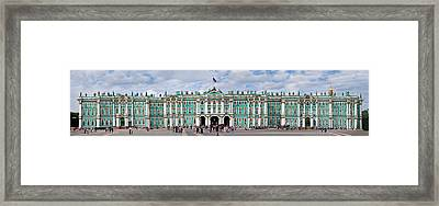 Tourists In Front Of Winter Palace Framed Print by Panoramic Images