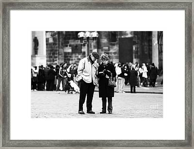 Tourists Framed Print by John Rizzuto