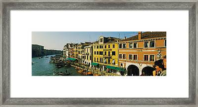 Tourists Looking At Gondolas Framed Print