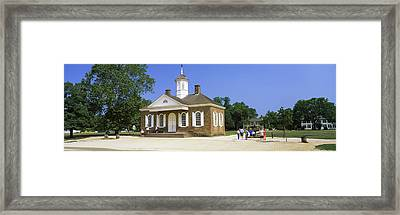 Tourists Near A Courthouse, Duke Framed Print by Panoramic Images
