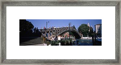 Tourists On A Bridge, Accademia Bridge Framed Print by Panoramic Images