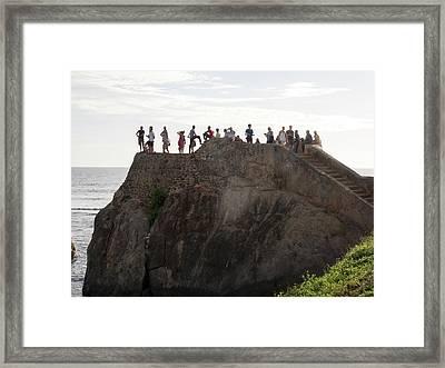 Tourists On Flag Rock Bastion, Part Framed Print