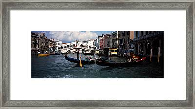 Tourists On Gondolas, Grand Canal Framed Print