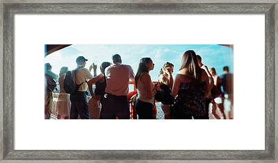 Tourists On Staten Island Ferry, Staten Framed Print by Panoramic Images
