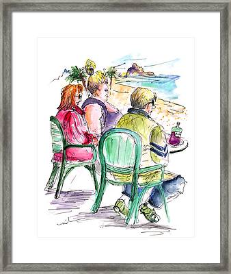 Tourists On The Costa Blanca In Spain Framed Print by Miki De Goodaboom